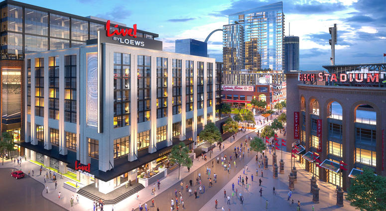 Renderings on the new $65 million Live! by Loews – St. Louis, MO hotel