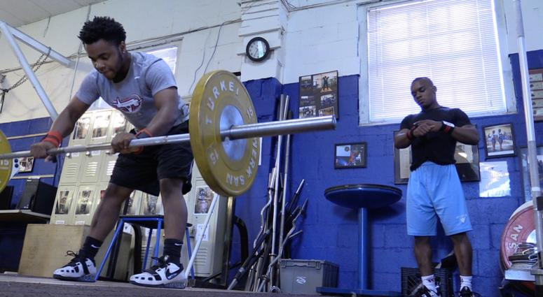 Antwan Kilbert and Jerome Smith of the Lift For Life Weightlifting Team.