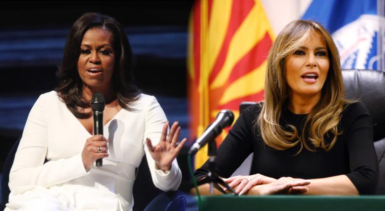 michelle obama voted most admired woman in america melania trump