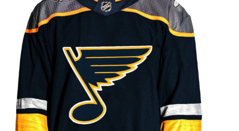 Photo of the rumored new Blues jersey.
