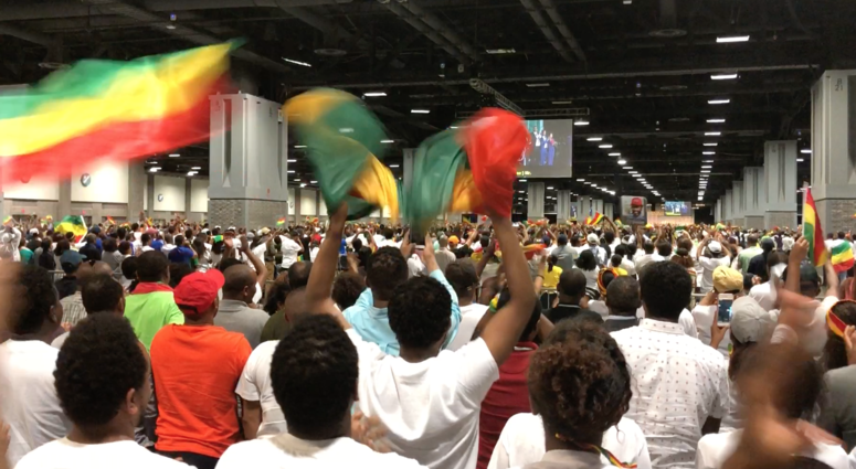 Seeing the Ethiopian Prime Minister in Washington, D.C. (Photo by D. Monterrey)