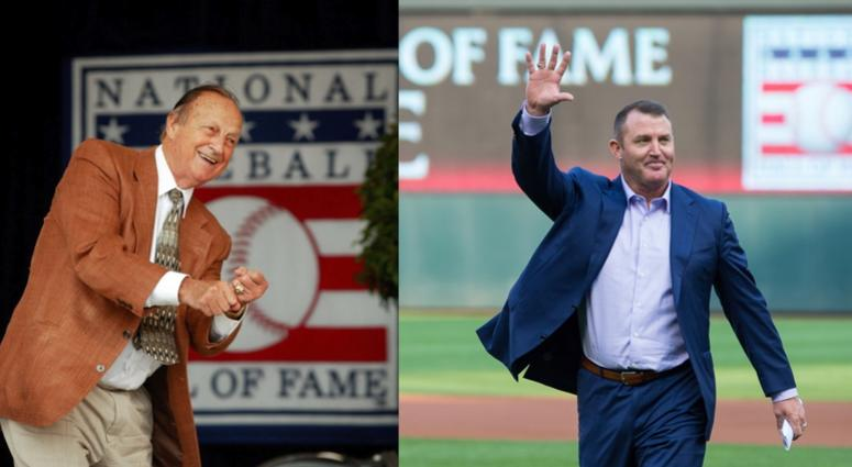 Baseball Hall of Famers Stan Musial and Jim Thome