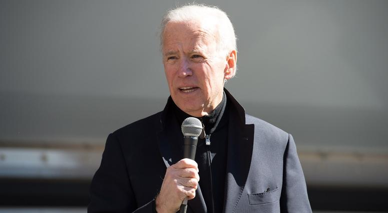 Mar 24, 2018; Wilmington, DE USA; Joe Biden gives his remarks during the March for Our Lives protest at Rodney Square in Wilmington.