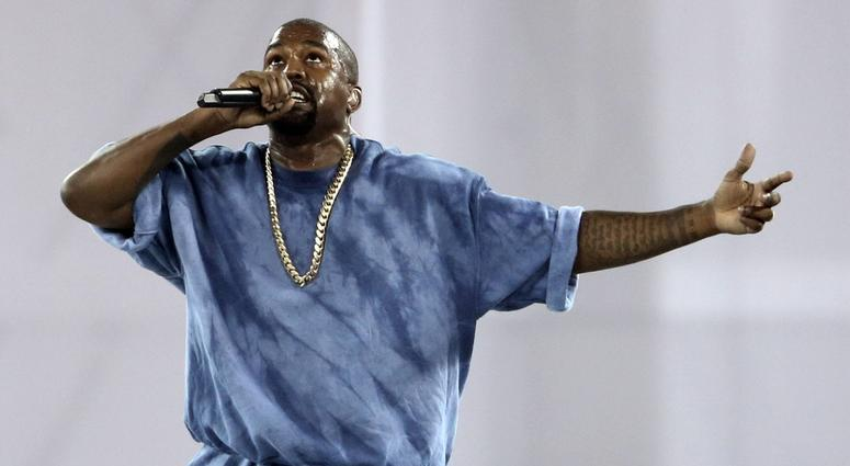 Recording artist Kanye West performs during the closing ceremony for the 2015 Pan Am Games at Pan Am Ceremonies Venue.