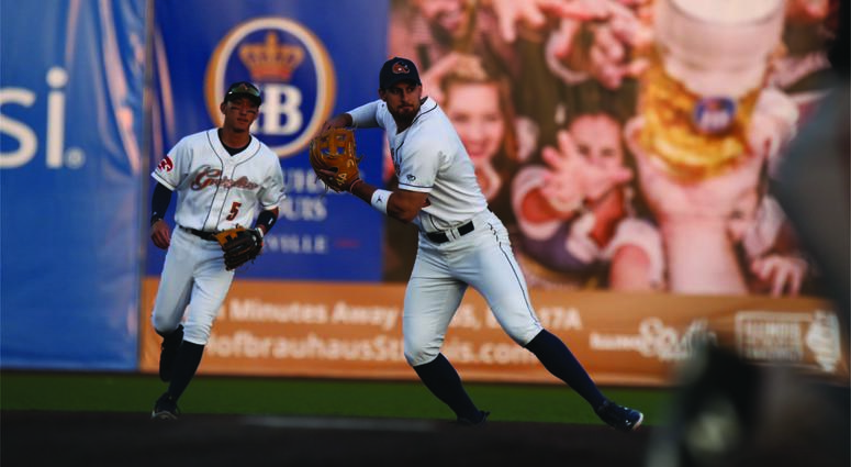 Photo from a Gateway Grizzlies games in the 2018 season, in Sauget, Ill.