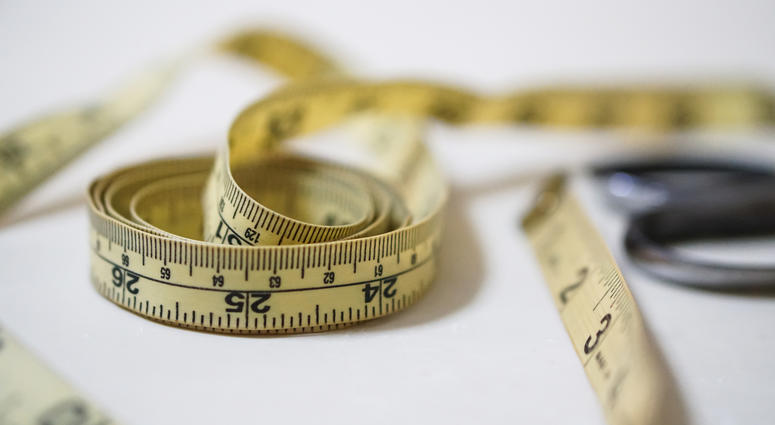Photo of a tape measure.