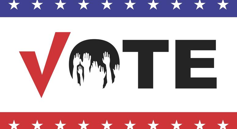 Election day campaign vote. Your vote counts. Vector format.