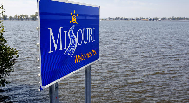 Missouri River flood waters in August 2011.