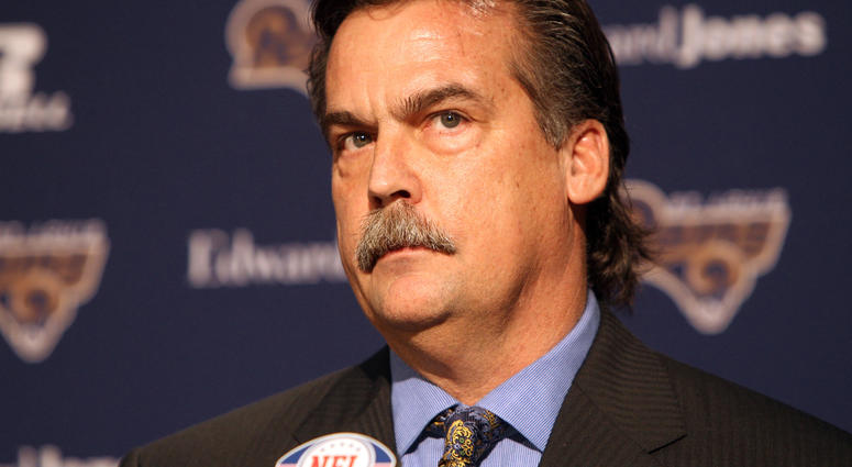 Jeff Fisher, head coach of the St. Louis Rams
