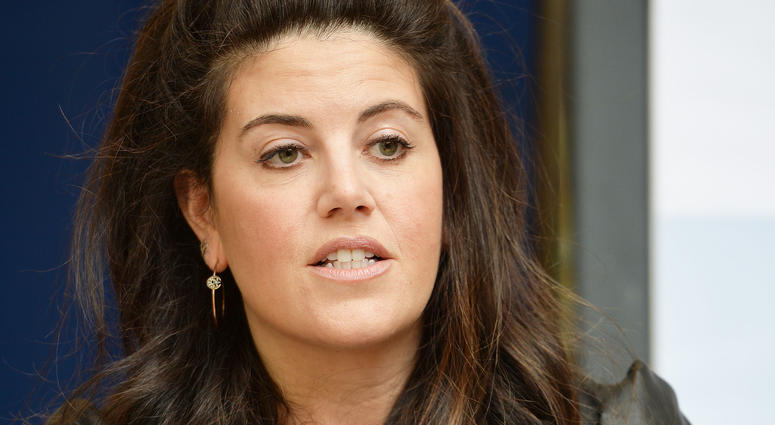 11/13/2017 - Monica Lewinsky talks during an anti-bullying photocall at Alexandra Palace, London.