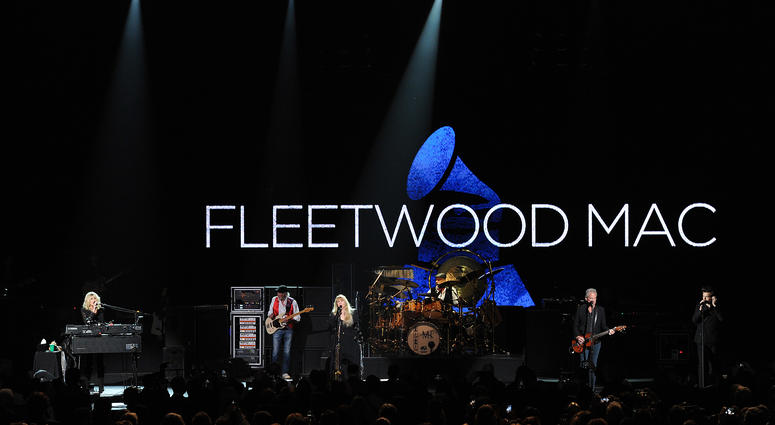 Fleetwood Mac appears at the 2018 MusiCares Person of the Year honoring Fleetwood Mac at Radio City Music Hall on January 26, 2018 in New York City.