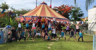 St. Louis Arches and Revolution Circus training in Dorado, Puerto Rico (Photo courtesy of Circus Harmony)
