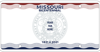 Missouri Releases New Bicentennial License Plates