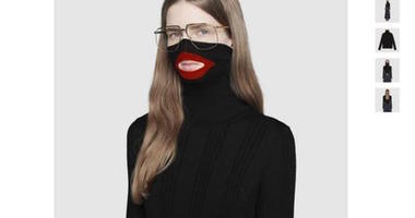 """Gucci has since pulled the """"black face"""" sweater from its website."""