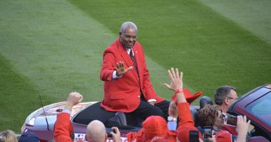 Bob Gibson, St. Louis Cardinals Hall of Famer on opening day 2018.