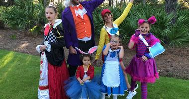 Adam Wainwright and his family dress up for Halloween.