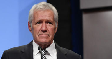 'Jeopardy!' host Alex Trebek speaks as he is inducted into the National Association of Broadcasters Broadcasting Hall of Fame during the NAB Achievement in Broadcasting Dinner at the Encore Las Vegas on April 9, 2018 in Las Vegas, Nevada.