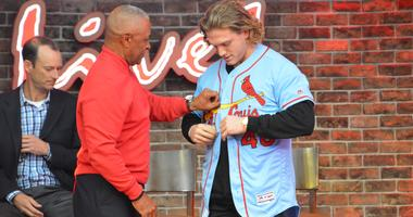 huge selection of d81f7 4e51a Harrison Bader, Ozzie Smith Unveil New St. Louis Cardinals ...