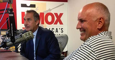 John Mozeliak and Doug Armstrong in the KMOX Sports studio.