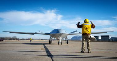 oeing's MQ-25 unmanned aerial refueler, known as T1, is currently being tested at Boeing's St. Louis site. T1 has completed engine runs and deck handling demonstrations designed to prove the agility and ability of the aircraft to move around within the ti