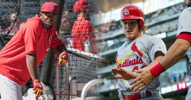 St. Louis Cardinals possible starting right fielders Dexter Fowler and Harrison Bader.