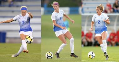 Saint Louis University Women's Soccer players.
