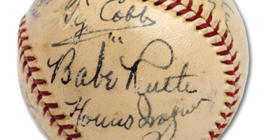1939 BASEBALL HALL OF FAME INAUGURAL INDUCTEES AUTOGRAPHED BASEBALL