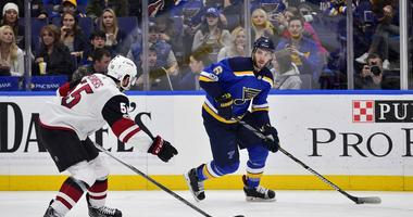 Blues can't solve Coyotes' Kuemper, lose 3-1 at Enterprise Center