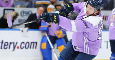 St. Louis Blues forward Vladimir Tarasenko during Hockey Fights Cancer night.