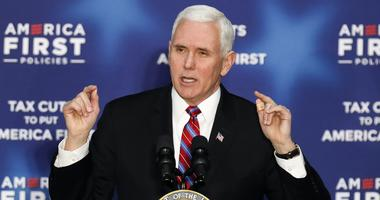 March 7, 2018; Versailles, KY, USA; Vice President Mike Pence spoke to a crowd at an America First event on Wednesday afternoon.