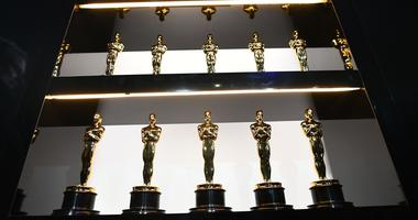 Oscar statues backstage during the show.