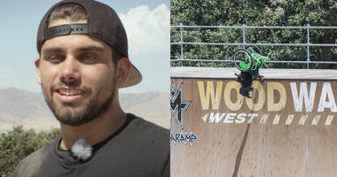 "Aaron ""Wheelz"" Fotheringham has spina bifida and is a professional Wheelchair Motocross athlete from California."