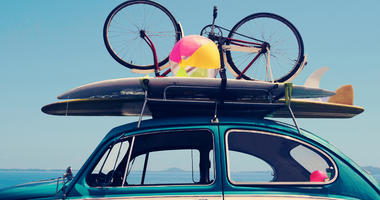 Vintage Summer holiday road trip vacation