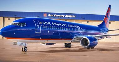 Photo of a Sun Country Airlines plane.