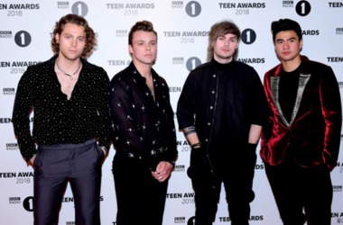 5 Seconds of Summer (from left to right) Luke Hemmings, Ashton Irwin, Michael Clifford and Calum Hood attending the BBC Radio 1's Teen Awards