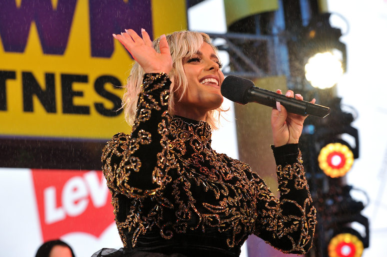"""Bebe Rexha performs on """"FOX'S New Years Eve with Steve Harvey: Live From Times Square"""" on December 31, 2018 in New York City"""