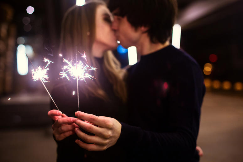 Fireworks Kissing
