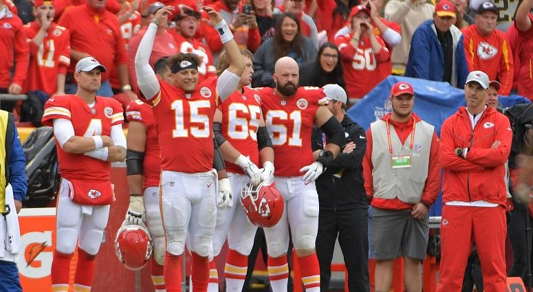 The undefeated Chiefs headed to New England Sunday night