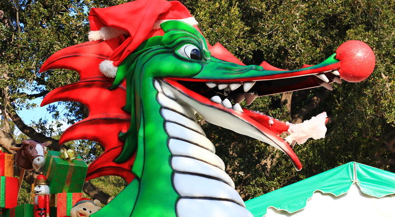 WATCH: Louisiana author's Christmas dragons go viral after neighbors' flare up