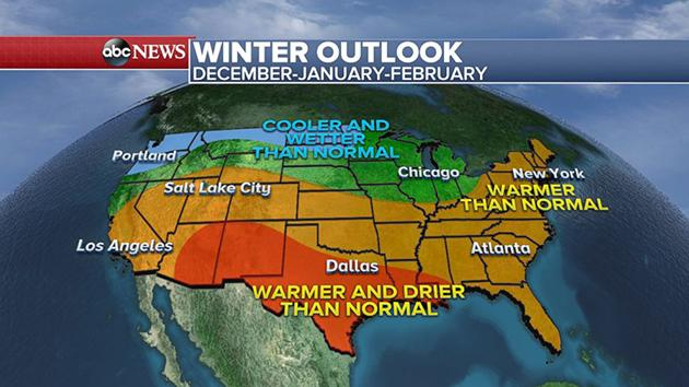 Winter Weather Forecast Shows Colder Wetter North And Warmer Drier South