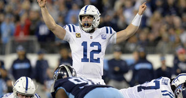 The Latest: Colts lead Titans at the half 17-10