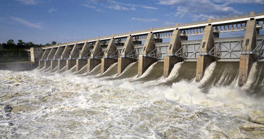 Water released from dams on Missouri River reduced