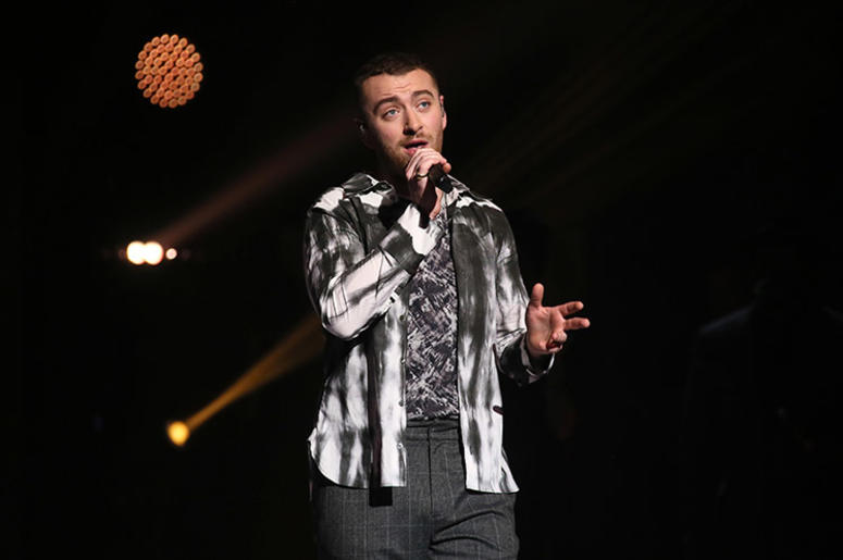 3/1/2018 - Sam Smith performs at The Global Awards, a brand new awards show hosted by Global, the Media & Entertainment group, at London's Eventim Apollo Hammersmith. (Photo by PA Images/Sipa USA) *** US Rights Only ***