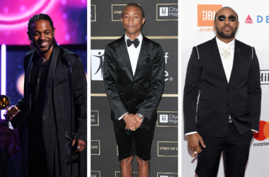 Kendrick Lamar accepts Best Rap Album during the 60th Annual Grammy Awards / Pharrell Williams arrives at the City Of Hope Gala 2018 / Mike Will Made It attends the Clive Davis and Recording Academy Pre-GRAMMY Gala