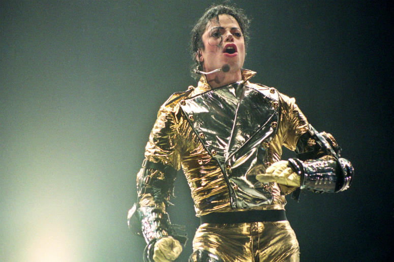 AUCKLAND, NEW ZEALAND - NOVEMBER 10: Michael Jackson performs on stage during is 'HIStory' world tour concert at Ericsson Stadium November 10, 1996 in Auckland, New Zealand.