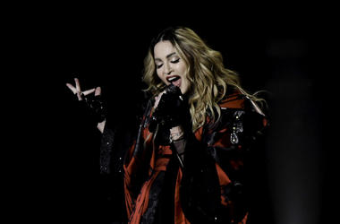 Madonna performs during her Rebel Heart Tour