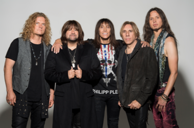 Image of Telsa, the band, all five members