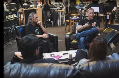 The Hetfield + Hammett Experience Tour of Metallica HQ