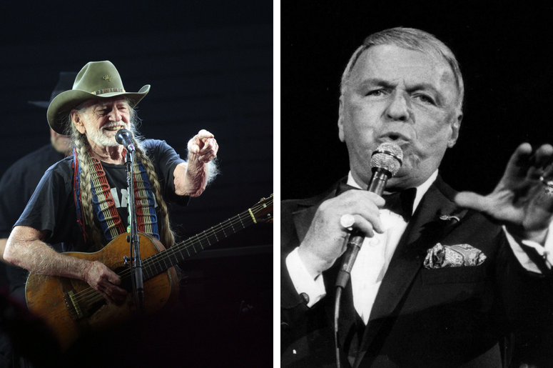 Willie Nelson performs on the Palomino Stage during the 2017 Stagecoach California's Country Music Festival / Frank Sinatra, shown in an undated file photograph during a concert in Philadelphia