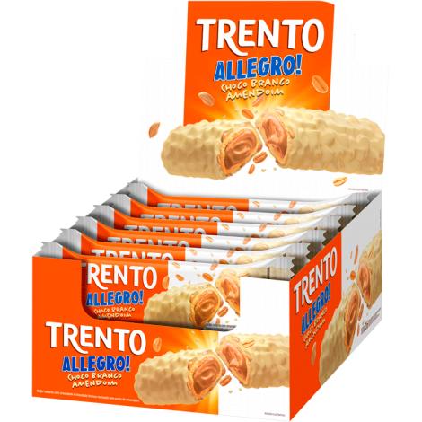 Trento Allegro Chocolate Branco C/ Amendoim 560g (16un x 35g)